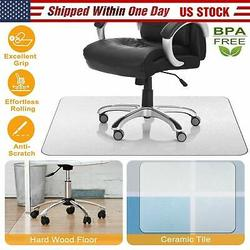Joyful Office Chair mat for Hardwood Floor, 48 x 36 inches, Easy Glide for Chairs, Flat Without Curling, Floor Mats for Computer Desk in us stock