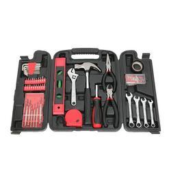 136 Pcs Tool Kit, YOFE Home Tool Kit, General Household Hand Tool Kit, Mechanics Hand Tool Set with Tool Case, Auto Mechanics Tool Kit, Basic Home Tool Kit for Household Repairing, Red/Black, R3662