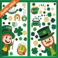 St Patrick's Day Window Clings Shamrock Window Clings-St Patricks Day Leprechaun Window Decals Irish Clover Window Clings Gnome St Patricks Day Window Stickers Decorations 136 PCS(8 Sheets)