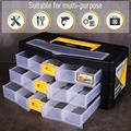 CANOPUS Craft Organizer with Drawers, Modular Drawer Case, Storage Organizer with Transparent Drawers, Portable Plastic Tool Box for Small Tools, Crafts, Screws, Bolts, Hardware and Other Small Parts