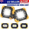 2000lm LED Work Light,Rechargeable Portable Waterproof LED Flood Lights