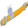 Eastman 416118 Yellow Epoxy Coated Ss Gas Connector, 1/2-Inch Mip X 1/2-Inch Mip - 1/2-Inch Od