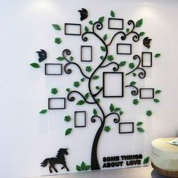 3D Wall Sticker 3D Innovative Acrylic Crystal Wall Stickers Photo Frame Tree Sofa TV Decorative Backdrop