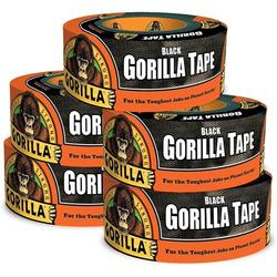 """Gorilla 6001203-5 Duct Tape, 1.88"""" x 12 yd, Black, (Pack of 5), 5-Pack, 5 Piece"""