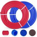 VEVOR 1/2 Inch PEX Tubing Potable Water Tube 2 Rolls X 300 FT PEX-B Plumbing Pipe Non-Barrier Coil for Water Plumbing Open Loop Radiant Hydronic Heating Systems