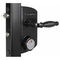 "Locinox LUKQ 4040 Swing Gate Latch Lock 1 1/2"" - 2 1/2"" Square Post Key Operated"