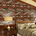 """18"""" x 39""""Self-Adhesive Brick Wallpaper ,3D Brick Wall Stickers PVC Wallpaper Peel and Stick 3D Art Wall Panels for Living Room Bedroom Background Wall Decoration"""