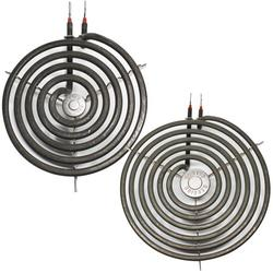 Compatible General Electric JP383B9R1BC 8 inch 6 Turns & 6 inch 5 Turns Surface Burner Elements - Compatible General Electric WB30M1 & WB30M2 Heating Element for Range, Stove & Cooktop