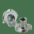 "#6-32xOAL 1/4"" 3 PRONG Tee Nut, 3 & 4 Prong, Zinc CR+3 (inch) (Quantity: 10000)"