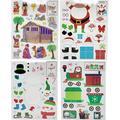 Christmas Window Clings (Set of 4), Christmas Window Decorations, Window Christmas Stickers, Window Xmas Decorations, Christmas Window Decor, Christmas Stickers for Windows, Christmas Window Decals