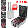 1010 PCS Toolbox Tool Set Screwdriver Socket, Hand Tool Set, Mechanics Tool Kit, Wrenches Socket, with Trolley Case, Auto Home Repair Kit