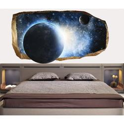 Startonight 3D Mural Wall Art Photo Decor Cosmos Amazing Dual View Surprise Wall Mural Wallpaper for Bedroom Space Collection Wall Paper Art Gift Large 47.24 '' By 86.61 ''