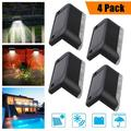 8 Pcs-Solar Lights for Decks, Waterproof Solar Powered Steps Light, Auto On/Off Outdoor Wireless Security LED Lamp Lighting for Walkway Patio Stairs Garden Path Rail Yard Fence Post Door Pathway