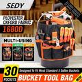 5-Gallon Bucket Tool Organizer Bag Gardening Tote AUTO Holder 30 Storage Pocket