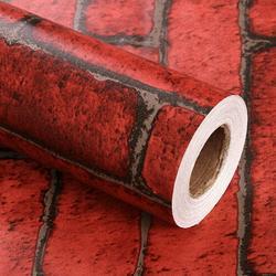 39.4''/ 196.8''/ 393.7'' 3D Brick Wallpaper, Peel and Stick Wallpaper Stone Brick Wallpaper Self Adhesive Removable Wallpaper Textured Brick Wallpaper for Background/Kitchen/Study Room