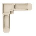 """CRL SWSC14BGE-XCP100 CRL Beige 1/4"""" Square Cut Screen Frame Corners - pack of 100"""