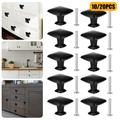 TSV 20/10Pcs Cabinet Knobs, Black Soild Square Drawer Knobs, 30mm/1.2in Cabinet Door Hardware Drawer Pulls Handles, for Kitchen Cabinets, Bedroom Drawers, Chest, Bookcase with Fitting Screws