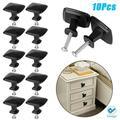Deago 10 Pack Cabinet Pull Knobs Kitchen Drawer Handle Door Square Cupboard Furniture Hardware