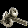 """#4-40 x 1/8"""" Machine Screw, Stainless Steel (18-8), Phillips Pan Head (inch) Head Style: Pan, (QUANTITY: 1000) Drive: Phillips, Thread: Coarse Thread (UNC), Fully Threaded"""