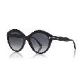 TOM FORD FT0763 01D Sunglasses Black Frame Smoke Polarized Lenses 56mm