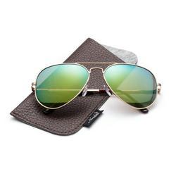 Polarized Aviator Sunglasses Mirrored Lens Classic Aviator Polarized Sunglasses Small