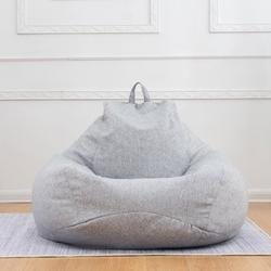 Bean Bag Sofa Chairs Cover Classic Lazy Lounger Bean Bag Storage Chair for Adults and Kids for Home Garden Lounge Living Room Indoor Outdoor (No Filler)