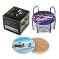 """HOU Coasters For Drinks - Set Of 4 Coasters, Silicone, Protect Against Water Marks Or Damage - Fit All Cups, 3.9"""" Inch Size Fits 