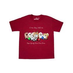Inktastic KiniArt Christmas Pomeranians Child Short Sleeve T-Shirt Unisex