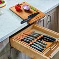 shanglixiansenxinmaoyi Kitchen 13Pcs Knifes Set w/ Knife Block, Kitchen Knifes Organizer Storage Rack w/ Steak Knifes, Chef Knifes & Sharpener