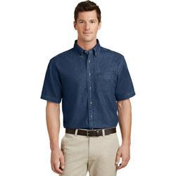Port & Company Short Sleeve Value Denim Shirt (SP11) Ink Blue, XL