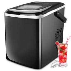 LINMOUA Ice Maker, Portable & Compact Ice Maker Machine, Electric High Efficiency Express Clear Operation Control Panel w/ Ice Scoop in Black