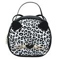 SJENERT Women PU Leather Cross Body Shoulder Bags Satchel Purses and Handbags Wallets Cute Cat Tote Bags Messenger Bags(White Black)