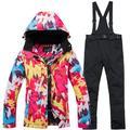 Ski Jacket Pants Set for Women Outdoor Waterproof Warm Ski Suit