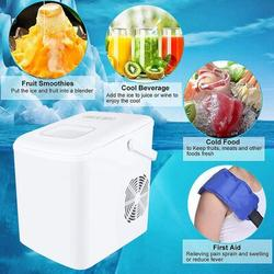 LINMOUA Ice Maker, Portable & Compact Ice Maker Machine, Electric High Efficiency Express Clear Operation Control Panel w/ Ice Scoop in White