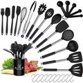 MingshanAncient Silicone Kitchen Utensils Set, Silicone Cooking Utensil Set - 446°F Heat Resistant Kitchen Utensils, Non-Stick Cooking Utensils Set