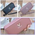 Menard Women Zip Purse Ladies Leather Wallet Long Card Phone Holder Clutch Handbag,Women's Tassel Strap Purse