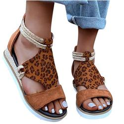 Mchoice Woman Summer Sandals Open Toe Casual Platform Wedge Shoes Casual Canvas Shoes