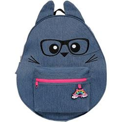 Meowgical 16 Inch Denim Backpack for Girls the Purr-fect Cat