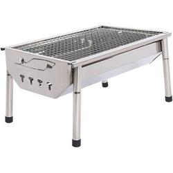 OLO Charcoal Grill Barbecue Portable BBQ - Stainless Steel Folding BBQ Grill Camping Grill Tabletop Grill I Grill Camping Cooking Small Grill