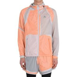 Adidas By Kolor Mens Decon Windbreaker Jacket XX-Large Light Grey/Orange