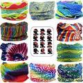 MAKLULU 10pc Seamless Bandanna Tube Headwear Scarf Wrap,12-in-1 Outdoor Sport Headband with UV Resistance(06-Rainbow)