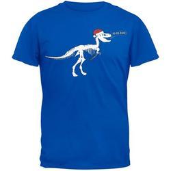 T-Rex Santa Blue T-Shirt - 2X-Large
