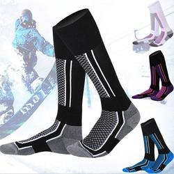 Ski Socks 1 Pairs for Skiing, Snowboarding, Cold Weather, Winter Performance Socks,Unisex Knee High Skiing Cycling Hiking Climbing Socks