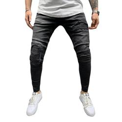 UKAP Ripped Skinny Jeans for Men Stretch Distressed Denim Jeans Retro Boys Destroyed Jeans With Holes Slim Fit Pants Trousers