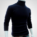 Hirigin Winter High Neck Thick Warm Sweater Men Turtleneck Brand Mens Sweaters Slim Fit Pullover Men Knitwear Male Double collar