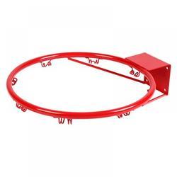 sawpy Basketball Hoop Steel in Gray/Red, Size 1.0 H x 15.0 W x 15.0 D in | Wayfair LK0069-1
