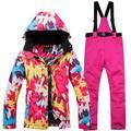 Autcarible Ski Jacket Pants Set For Women Outdoor Waterproof Warm Ski Suit