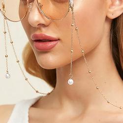 Glasses Chain for Women Eyeglass Strap Sunglasses Fake Pearls Anti-Slip Band Adjustable Necklace Bracelet