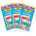 TREND enterprises, Inc. Trend Everyday Favorites Superspots®/Supershapes Variety Pack, 2500 Per Pack, 3 Packs, Size 0.57 H x 4.16 W x 8.0 D in
