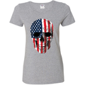 Cracked American Flag USA Skull Americana / American Pride, patriotic Shirt, American Shirt, Patriotic Shirt, fourth of july shirt, American Flag, USA Womens Graphic T-Shirt